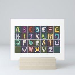 Horizontal Animal Alphabet (Complete Poster) Mini Art Print