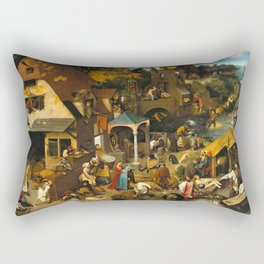 Netherlandish Proverbs (Nederlandse Spreekwoorden) Rectangular Pillow