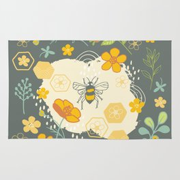 Little Bee and Buttercups Rug