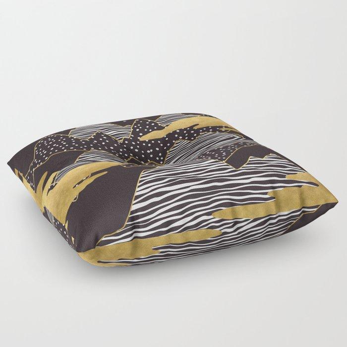 Gold Mountain Peaks Floor Pillow
