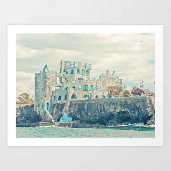 blue coral castle Art Print