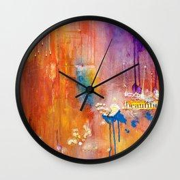 Dream Me Beautiful by Nadia J Art Wall Clock