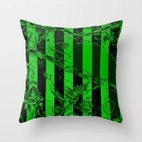 waldo Throw Pillows featuring WALDO by Ken Forst