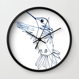 Hummingbird B Wall Clock