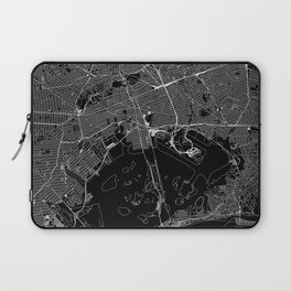 Queens Black Map Laptop Sleeve