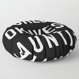 WORLD'S OKAYEST AUNTIE White Typography Floor Pillow