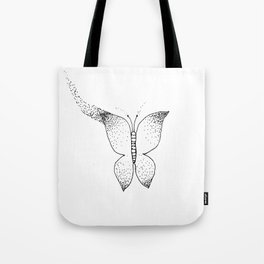 Stipple Butterfly Tote Bag