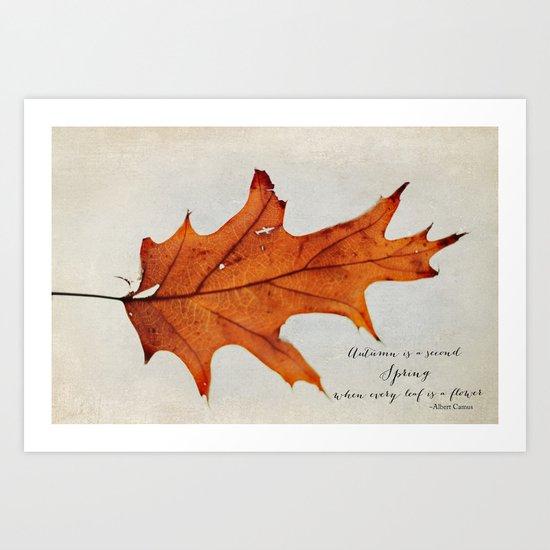 this autumn leaf Art Print