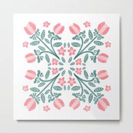 Florally Metal Print