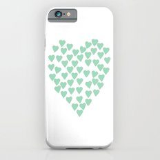 Hearts Heart Mint iPhone 6s Slim Case