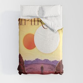 Relax on Kepler 16b vacation advert Comforters