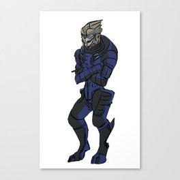 Everybody's favourite turian officer Canvas Print