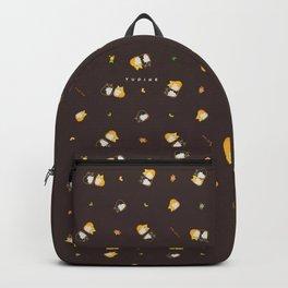 Mix Shiba Pattern on black Backpack