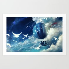 ASL : sailing home Art Print