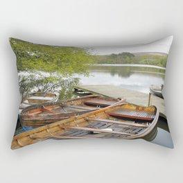Boats on Wyresdale Lake, Scorton Rectangular Pillow