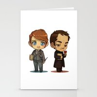 crowley Stationery Cards featuring Naomi & Crowley by Ravenno