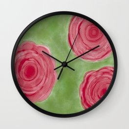 Peonies of Red Wall Clock