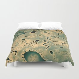 Microscopic Microbes Duvet Cover