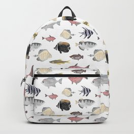 Fish Pattern - Pink & Gray Theme Backpack