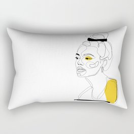 Yellow Sketch Rectangular Pillow