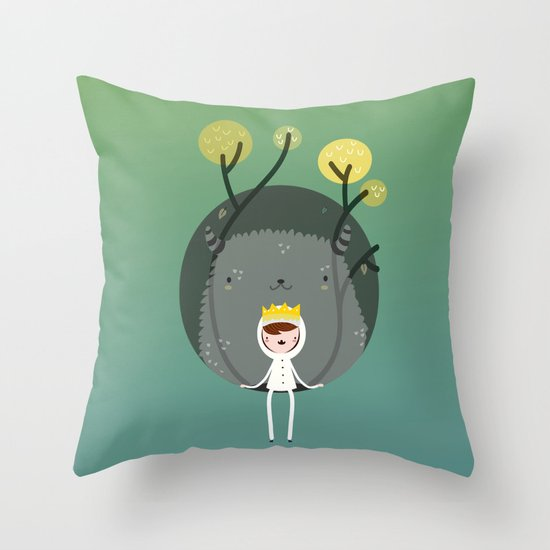 Where are the wild things? Throw Pillow
