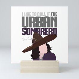 The Urban Sombrero Mini Art Print