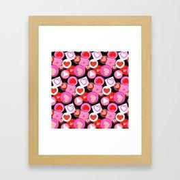 Crazy Hearts Framed Art Print