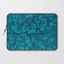 Blue Doodle Laptop Sleeve