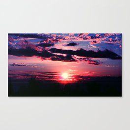 Sunset in the Pacific Northwest Canvas Print
