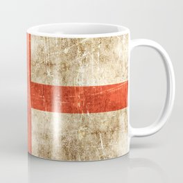 Vintage Aged and Scratched English Flag Coffee Mug