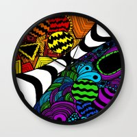 zentangle Wall Clocks featuring Zentangle by Grace Thanda