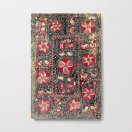 Lakai Suzani Shakhrisyabz Uzbekistan Embroidery Print Metal Print