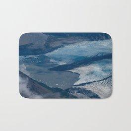 Aerial Glacier - Alaska Bath Mat