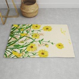 Yellow Wildflowers Rug