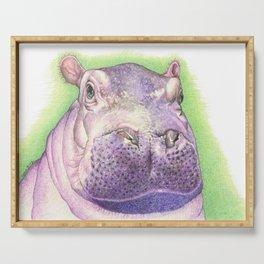 Purple Hippo Serving Tray