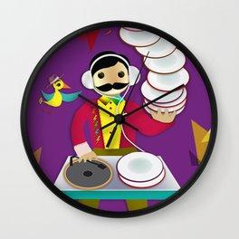 DJ Moustache  Wall Clock