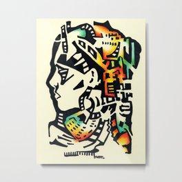 Mohawk by Monica Hulsing Metal Print
