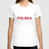 poland T-shirts featuring POLAND by eyesblau