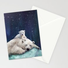 Polar Bears Stationery Cards