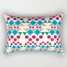 Basic Shapes Pattern Rectangular Pillow