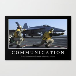 Communication: Inspirational Quote and Motivational Poster Canvas Print