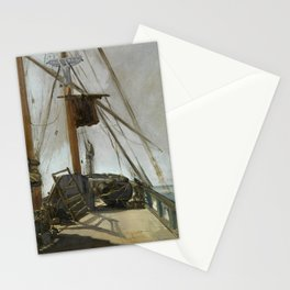 Manet - The ship's deck, 1860 Stationery Cards