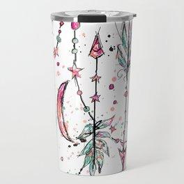 Bohemian Pink and Aqua Travel Mug