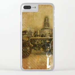 Vintage Fire Engine Clear iPhone Case