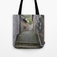 winchester Tote Bags featuring Winchester Alley by Ashley Callan