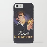 cigarettes iPhone & iPod Cases featuring Smoke Cigarettes by grrrenadine
