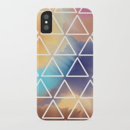Rainbow Triangles iPhone Case