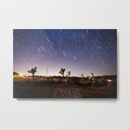 Joshua Tree Star Trails Metal Print