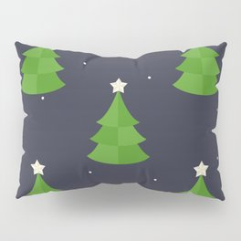 Green Christmas Tree Pattern Pillow Sham