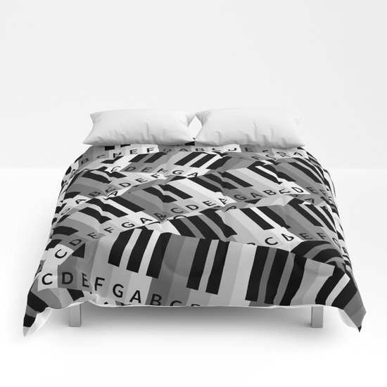Piano Keys Comforters